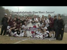 ▶ Men's Soccer: 2013 SoCon Champions! - see the extra time goal that propelled the #Elon Men's Soccer team to a Southern Conference Tournament Championship and a third straight NCAA tourney bid.