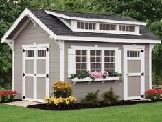 Craftsman style sheds by Weaver Barns distributed by Amish Buildings