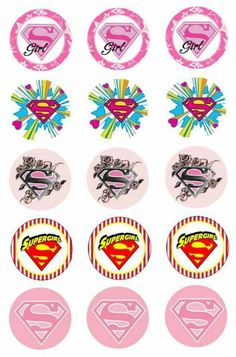 Super Girl: Free Printable Stickers, Toppers or Labels. Bottle Cap Art, Bottle Cap Crafts, Bottle Cap Images, Diy Bottle, Bird Theme Parties, Party Themes, Themed Parties, Ideas Party, Logo Super Heros