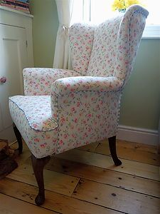 Cath Kidston / Laura Ashley Parker Knoll Wingback Chair Romantic Cottage, Cottage Chic, Cottage Style, Sofa Bench, Wingback Chair, Painted Chairs, Country Chic, Slipcovers, Parker Knoll