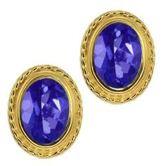 1.90 Ct Oval Shape Tanzanite Blue Mystic Topaz Gold Plated Silver Stud Earrings Gem Stone King. $24.99. This Item Contains 100% Natural Stones. This item is proudly custom made in the USA