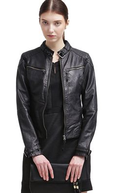 Maze #women #leatherjacket with high quality full grain leather fabric just in €180 #leatherjackets #highquality #leather #jackets @leathersketch