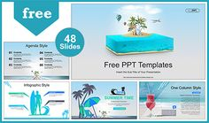 Travel and Vacation PowerPoint Templates that fully and easily editable shape color, size, and text. Powerpoint Maker, Cool Powerpoint Templates, Free Ppt Template, Business Ppt Templates, Travel And Tourism, Free Travel, Business Presentation, Proposal, Infographic