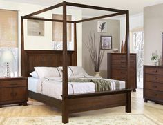 Canopy Bed... Our head board would look great with this style and design as well