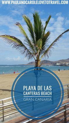 A look at Playa de Las Canteras beach in Las Palmas, Gran Canaria. It is within walking distance of the cruise ship port. #canteras #beach #palmas #gran #canaria #cruise #cruisong #port