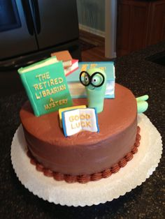 Retirement Cake-Librarian