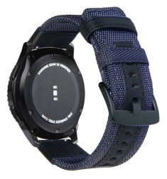 """Brand Name: GeekthinkOrigin: CN(Origin)Band Length: 21cmBand Material Type: FabricCondition: New without tagsModel Number: For Galaxy Watch 3Clasp Type: Black Pin Buckle Full steelSuitable wrist size: Fits medium - large / 157mm - 210mm / 6.2"""" - 8.2""""For Amazift Bip Pace Stratos: For Huami Watch, For 20MM 22MM Width Band StrapFor Huawei Watch GT2: GT 2E Samsung Gear S3 Frontier, Huawei Watch, New Samsung Galaxy, Leather Watch Bands, Blue Fabric, Real Leather, Smart Watch, Pure Products, Gear 2"""