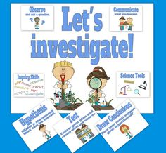 These posters help students remember the steps during science investigations. These are great for early elementary learners, science and homeschool classrooms. Click on the picture to take a closer look!