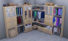 Sims 4 | Alpha Beta Phong Modular Closet System #brazenlotus buy mode deco bedroom