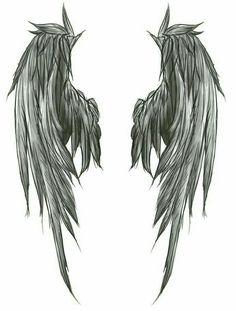 Favorite Dark Wings Tattoo style of Angel Wing Tattoos Great Tattoo Son, Demon Tattoo, Art Drawings Sketches, Cool Drawings, Angel Wings Drawing, Wing Tattoos On Back, Angel Wings Tattoo On Back, Hanya Tattoo, Demon Wings