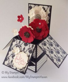 Modern Medley, Best Of Love, Love you More, Pansy Punch, Blossom Punch, Petite Petals Punch, Label Bracket Punch valentines card in a box