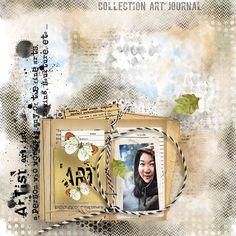 Page d'inspiration #digiscrap #digiscrapbooking #florjudesigns  Art Journal { Collection PU } by Florju Designs