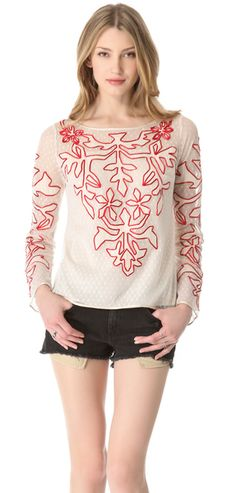 ALICE BY TEMPERLEY  Red Floria Top