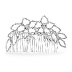 Bling Jewelry Floral Leaf Gatsby Inspired Crystal Bridal Tiara Hair... (565 CZK) ❤ liked on Polyvore