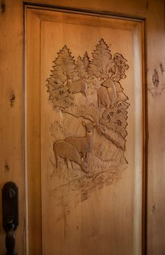The front door, and select interior doors are amazing works of art.  They are custom carved to order.