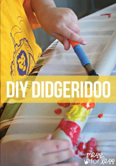 Use an old wrapping paper roll tube and some paint to create this fun DIY didgeridoo!