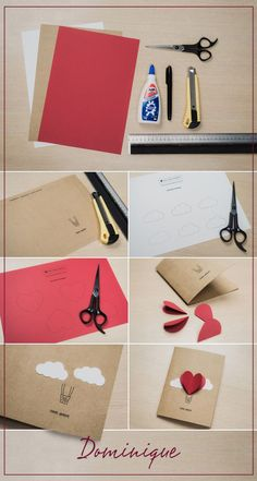 54 Ideas For Baby Cards Handmade Mini Albums Diy Birthday Gifts For Mom, Diy Birthday Banner, Diy Birthday Decorations, Handmade Birthday Cards, Cool Paper Crafts, Diy Crafts For Gifts, Love Cards, Diy Cards, Valentines Diy