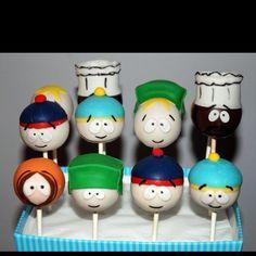 South Park Cake Pops by The Creative Cakery Bake Shoppe, Toronto.