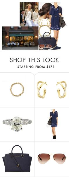 """""""Having lunch with Madeleine and catching up at Le Bilboquet in New York City"""" by swedish-princess ❤ liked on Polyvore featuring Georg Jensen, Alice by Temperley, Michael Kors and Ray-Ban"""