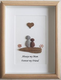 Pebble Art framed Picture Mothers Day Mother and by Jewlls4u
