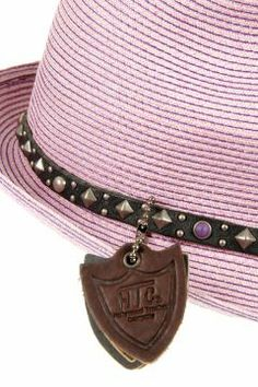 62f7fc173c355 Studded and leather detailed hat by HTC