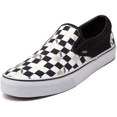 Vans Slip On 50th Chex Skate Shoe (130 CAD) ❤ liked on Polyvore featuring 5dd71a8d9