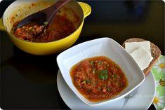 sopa marroquí de tomates