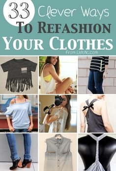 Diy Projects: 33 Clever Ways To Refashion Your Clothes