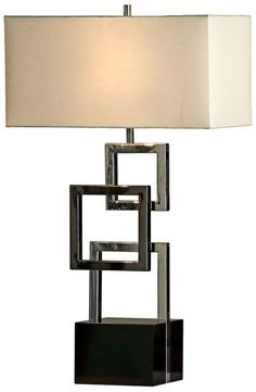 Cuadros Gloss Black Nova Lighting Table Lamp - Euro Style Lighting