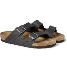 Birkenstock | Arizona Matte-Leather Sandals #birkenstock #sandals #want