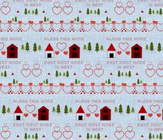 Nordic Home Sampler fabric by forestwooddesigns on Spoonflower - custom fabric