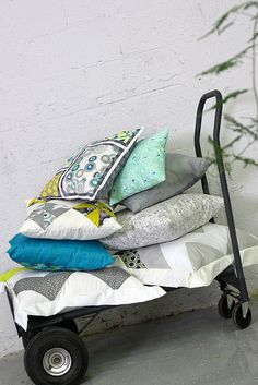 Pillow Love with Urban Mob by Art Gallery Fabrics, via Flickr