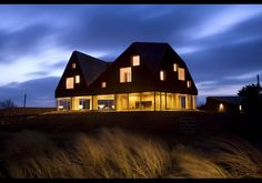 Much prettier at night! Love the warm glow!  The Dune House, Suffolk, United Kingdom