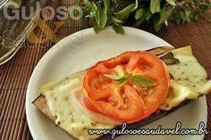 Foto: Quer uma dica super leve, simples e saudável? Esta Berinjela em Leque é deliciosa, perfeita para o #jantar!  #Receita aqui: http://www.gulosoesaudavel.com.br/2012/09/17/berinjela-leque/