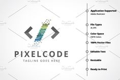 Pixel Code Logo by tkent on @Graphicsauthor