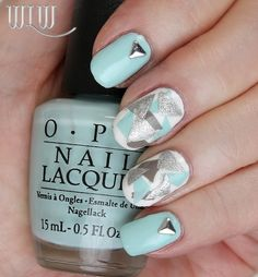 """Lola's Confetti Mani:  OPI """"Gelato On My Mind"""", OPI """"Alpine Snow"""", OPI """"French Quarter For Your Thoughts"""", OPI """"This Gown Needs A Crown"""", Seche Vite top coat.  Inspiration credit:  @Melcisme"""