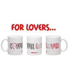 €12,95  Taza Coffee Lover con impresión alrededor para amantes del café (y los gatos!)  #taza #mug #cats #gatos #catlovers #cute #coffee #love #red #black #lover #heart #need