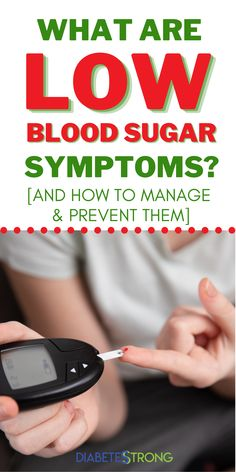 Symptoms of low blood sugar that you need to know - In this article, we'll look at the telltale symptoms of low blood sugar, causes of low blood sugar, how to treat and manage lows, and how to prevent low blood sugar from occurring as frequently. #bloodsugar #lowbloodsugar #diabetes #managingdiabetes #hypoglycemia #diabetesstrong #bloodsugarmanagement #type1diabetes #type2diabetes Sugar Diabetes, Type 1 Diabetes, Diabetes Diet, Health And Fitness Articles, Health Tips, Low Blood Sugar Symptoms, Easy Family Meals, Family Recipes, Diabetes Information