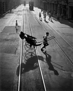 "Different Direction. From ""street scenes"" by FAN HO"