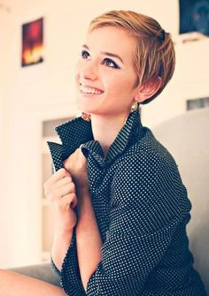 Cute blonde pixie hairstyle