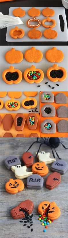 Filled Halloween Cakes