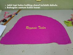 Tutorial shawl twist Tudung Shawl, Projects To Try, Sewing, Dressmaking, Couture, Stitching, Sew, Costura, Needlework