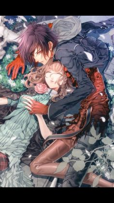 Amnesia - Heroine x Shin Anime Love, Anime Guys, Manga Anime, Amnesia Shin, Amnesia Memories, Animes To Watch, Film Serie, Anime Artwork, Cute Anime Couples
