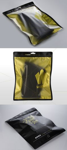 Weapon Agency Design Crossfit Knee Sleeve WORKT Packaging Featured on The DieLine Gold Foil with Matte black.