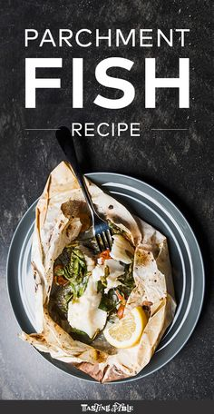 Easy Dinner for Two. Parchment Fish Recipe