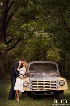 Engagement picture with an old truck at Shady Lane Farm Old Truck Photography, Couple Photography Poses, Engagement Photography, Wedding Photography, Couple Picture Poses, Photo Couple, Couple Pictures, Family Pictures, Prom Photos