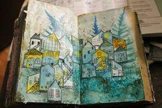 Alterd book: City  by Anu-Riikka Lampinen