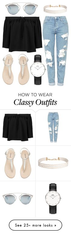 """""""Day or Night"""" by daniel-wellington on Polyvore featuring Elizabeth and James, Topshop, Christian Dior and Humble Chic"""