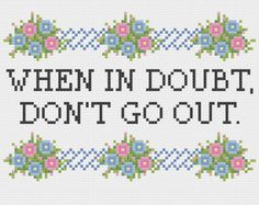 Mindy Project Floral Border Cross Stitch or by KikiStitches