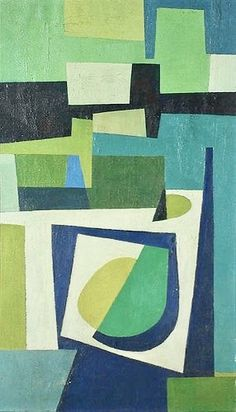 burton wasserman - construction 1950 I like the geometric images that were popular, different colours of course Art And Illustration, Mid Century Art, Geometric Art, Painting & Drawing, Modern Art, Contemporary Artists, Abstract Art, Abstract Portrait, Abstract Shapes